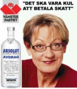 Kommunistskämt - här med Gudrun Schyman och Absolut Avdrag.