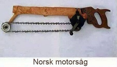 Norsk motorsåg. Roliga historier om norrmän.
