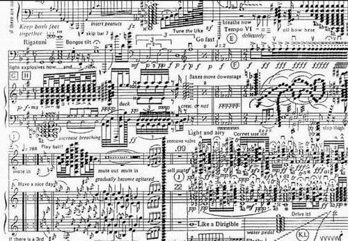 Skämt för musiker. Spelar du fel blir du lätt utskälld efter noter.