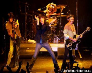 Rolling Stones trummis glömde sminket vid denna föreställning.