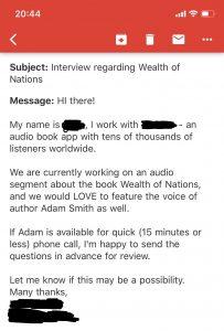 Adam Smiths röst