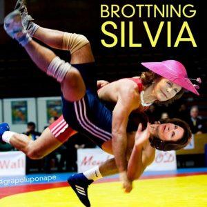 Här hittar du skämt och även ett par roliga bilder om känsdisar, som den här om Brottning Silvia.